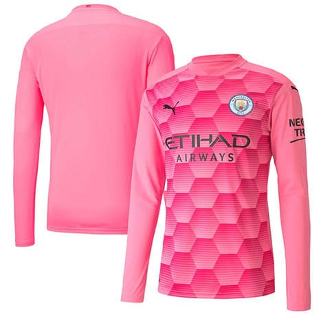 Maillot Manchester City Gardien ML 2020/2021 Rose